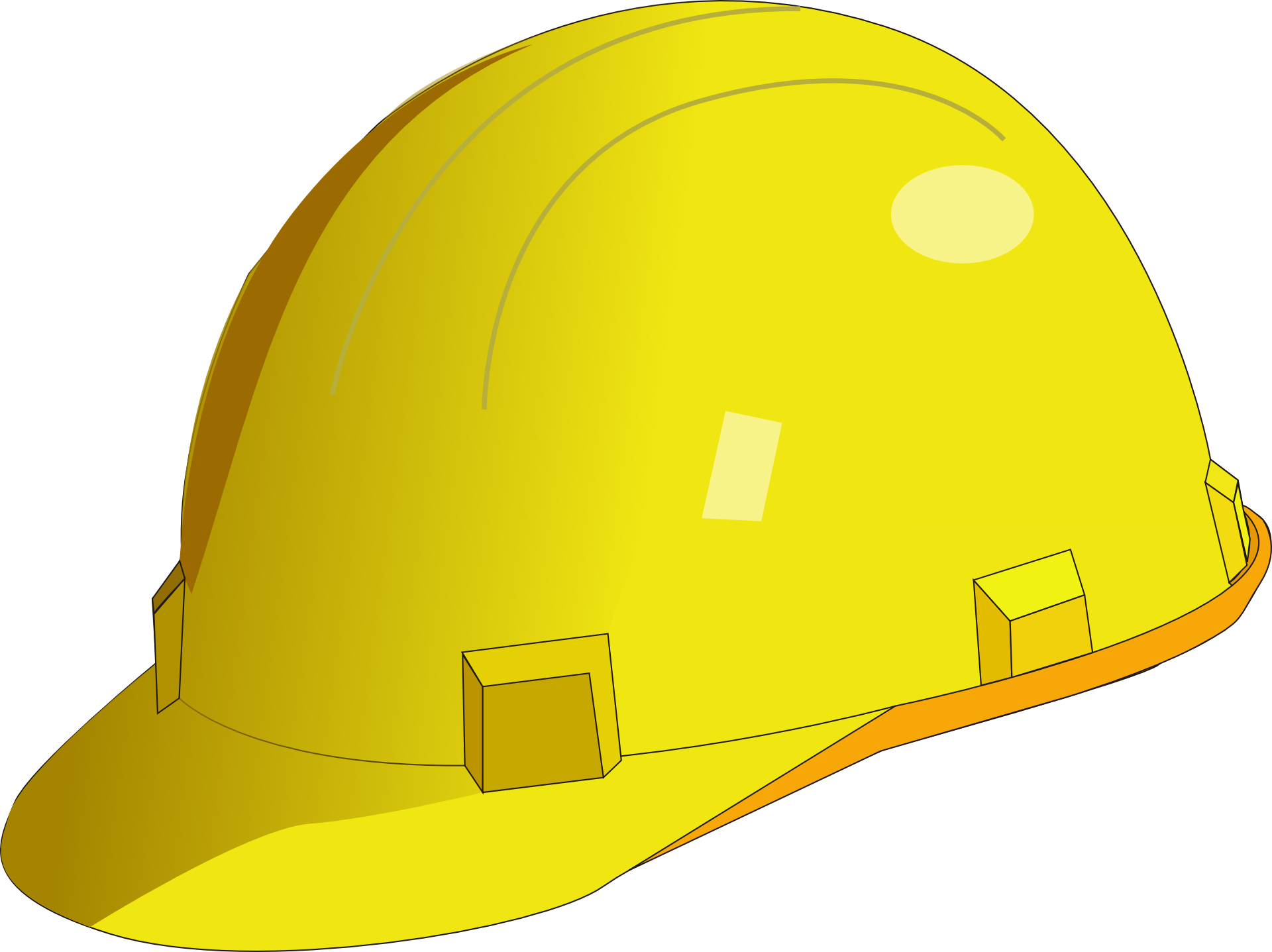 Yellow safety helmet for builder & hewer