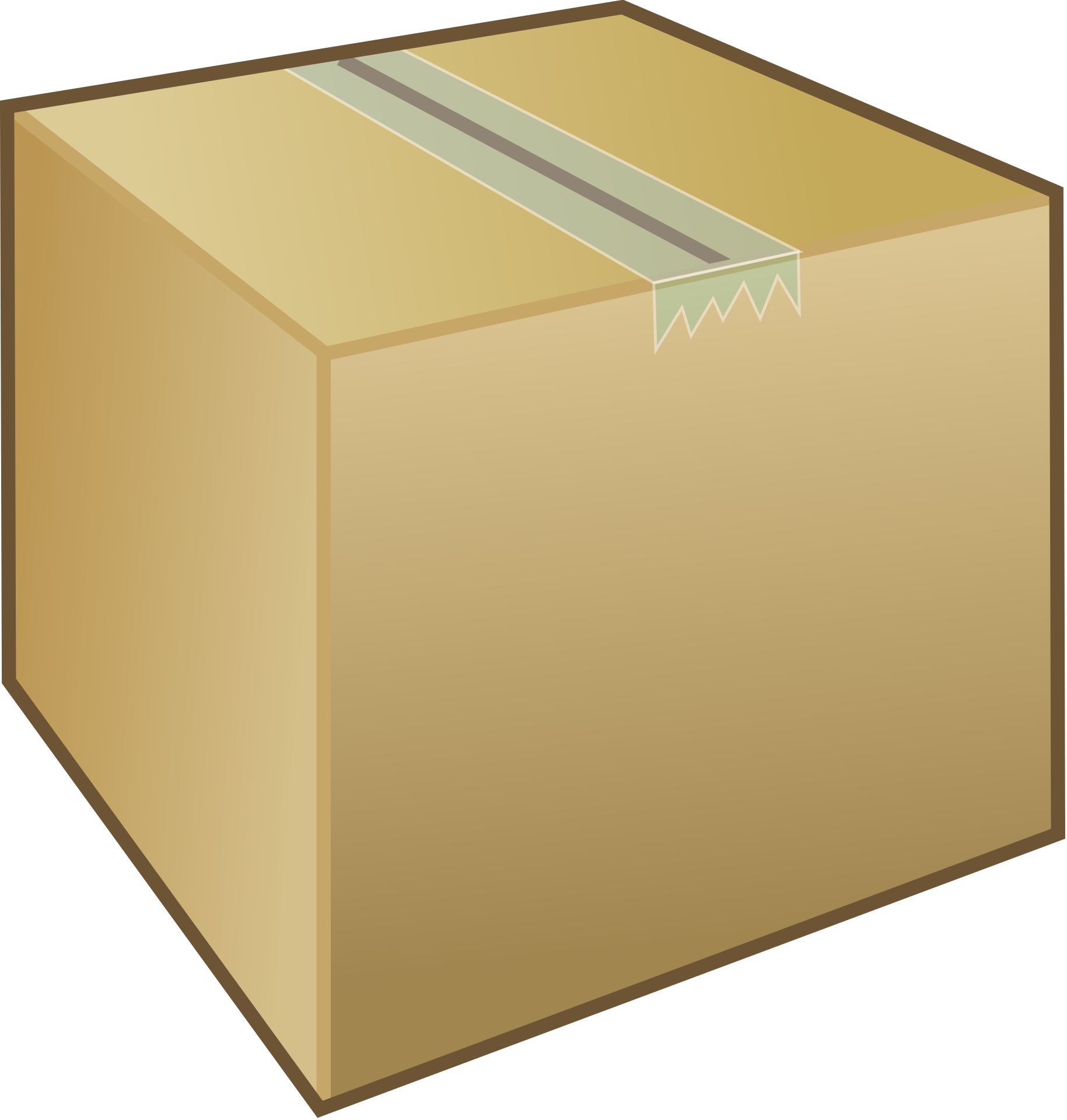 brown box, airtight carboard,carton vector