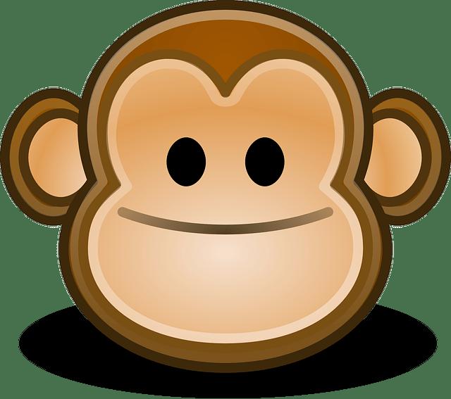 cartoon monkey smile & face vector
