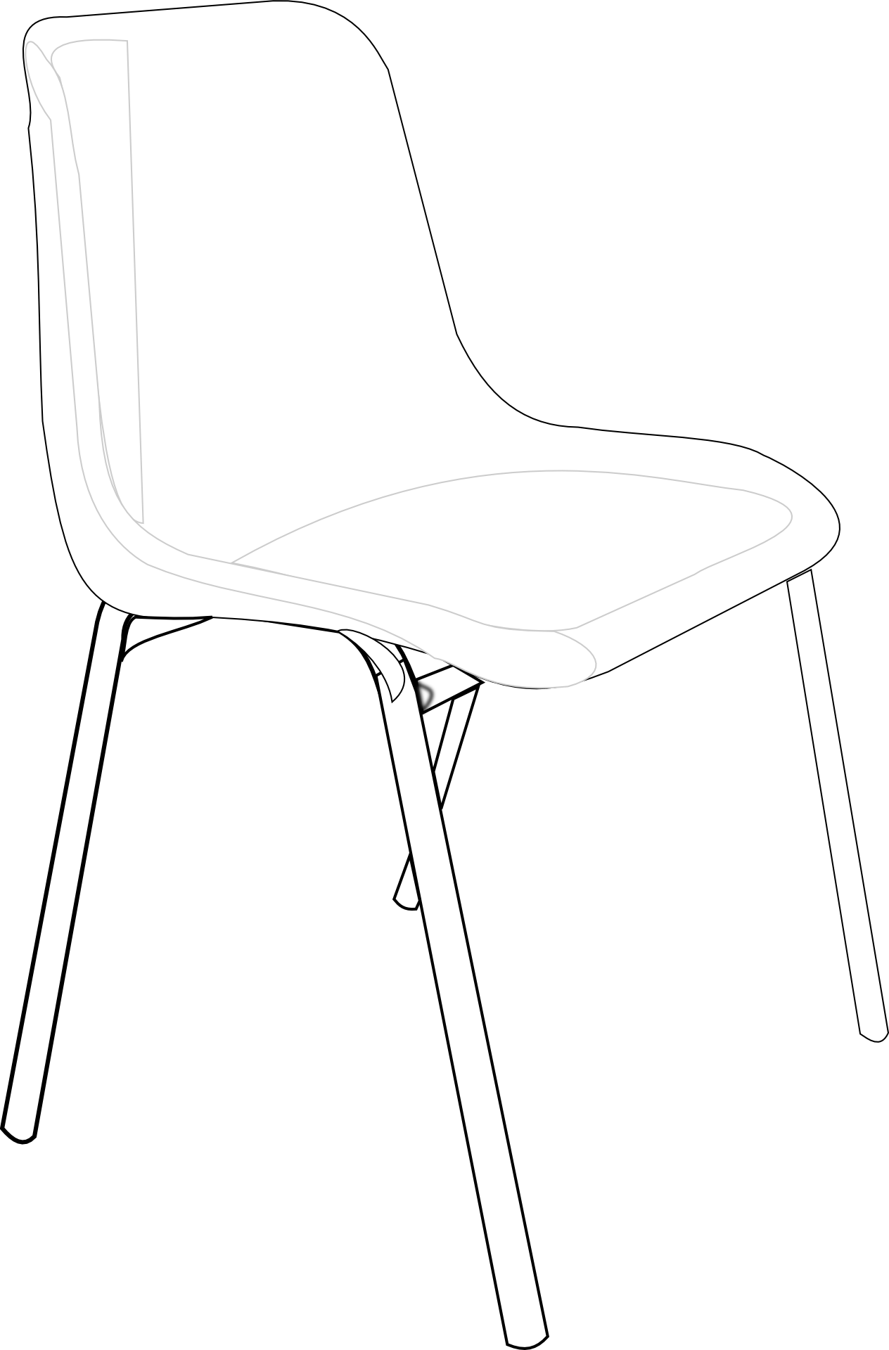 chair outline,furniture free vector