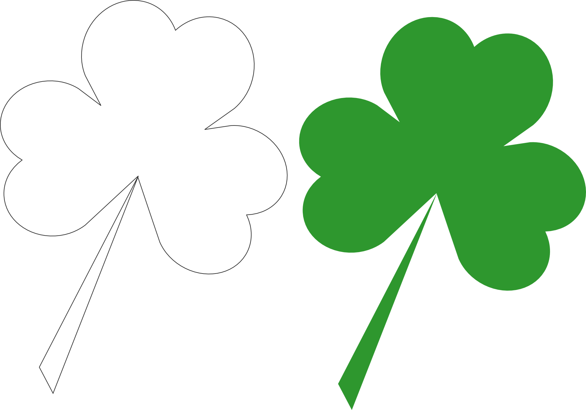 green leaf,shamrock vector