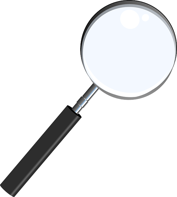 magnifying glass vector