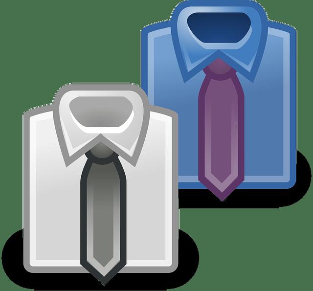 men's shirt and tie free vector