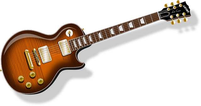 musical instrument-electronic guitar vector