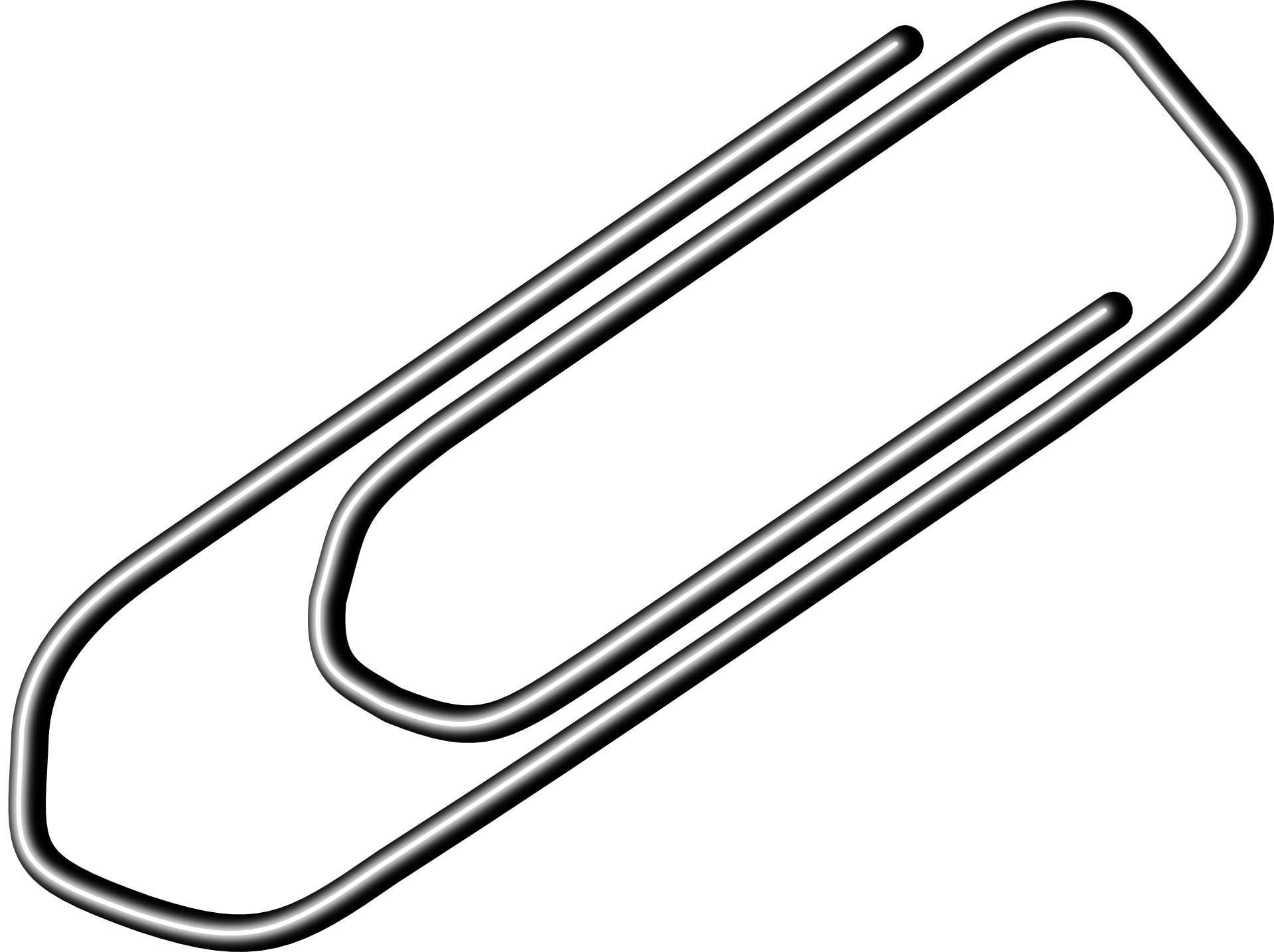 Office Tool Paperclip Vector