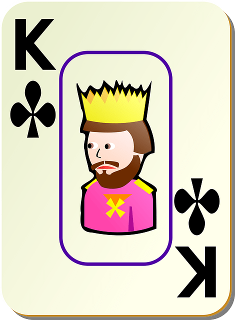 playing card K vector
