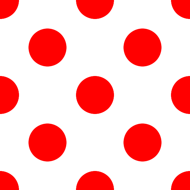 Red dot pattern vector