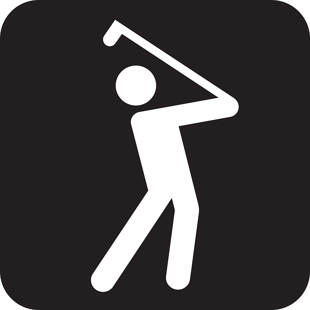 simple play golf vector