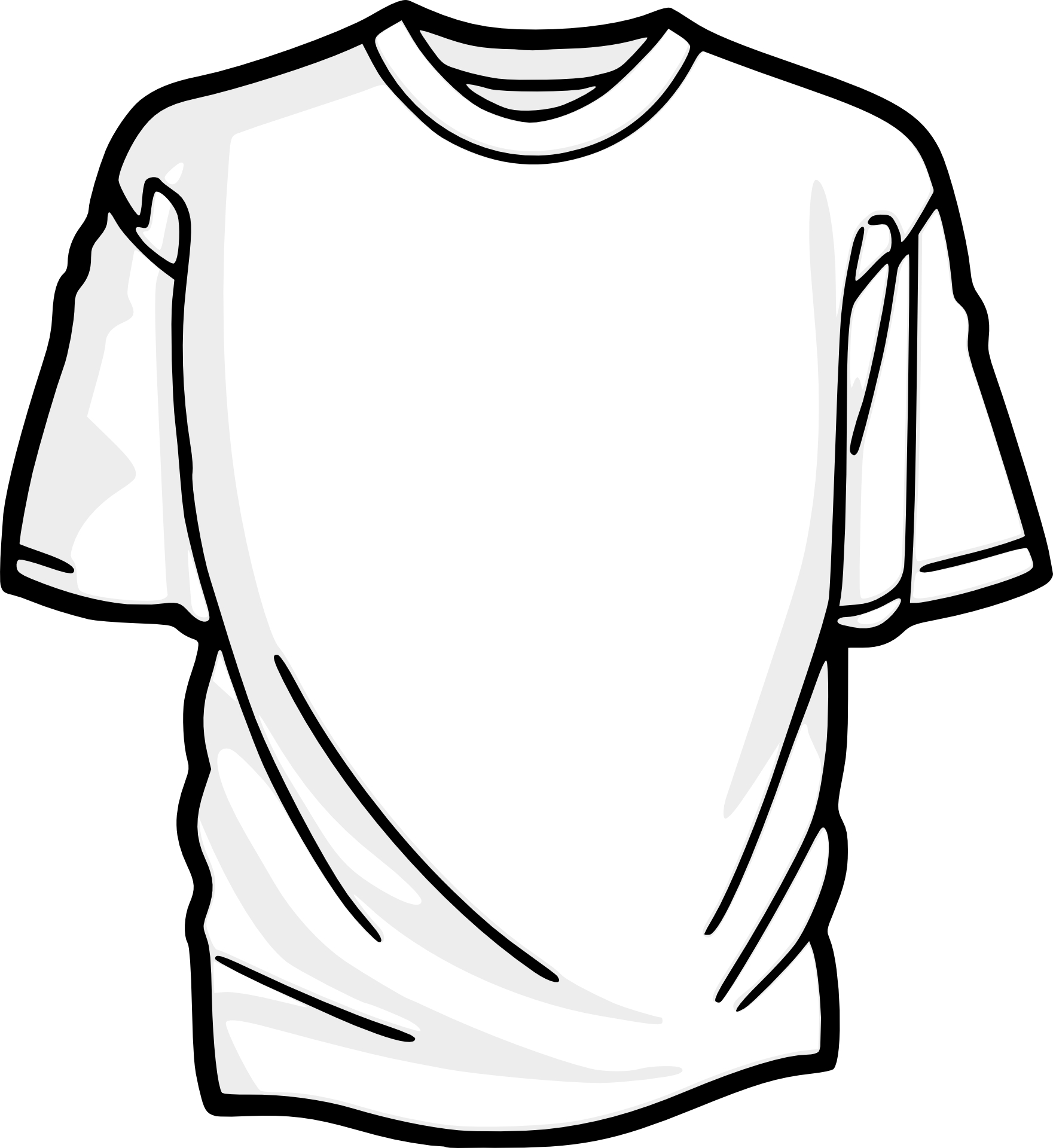 t-shirt outline vector