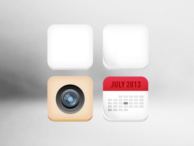 3D Icons-Free Calendar Camera Icons Vector