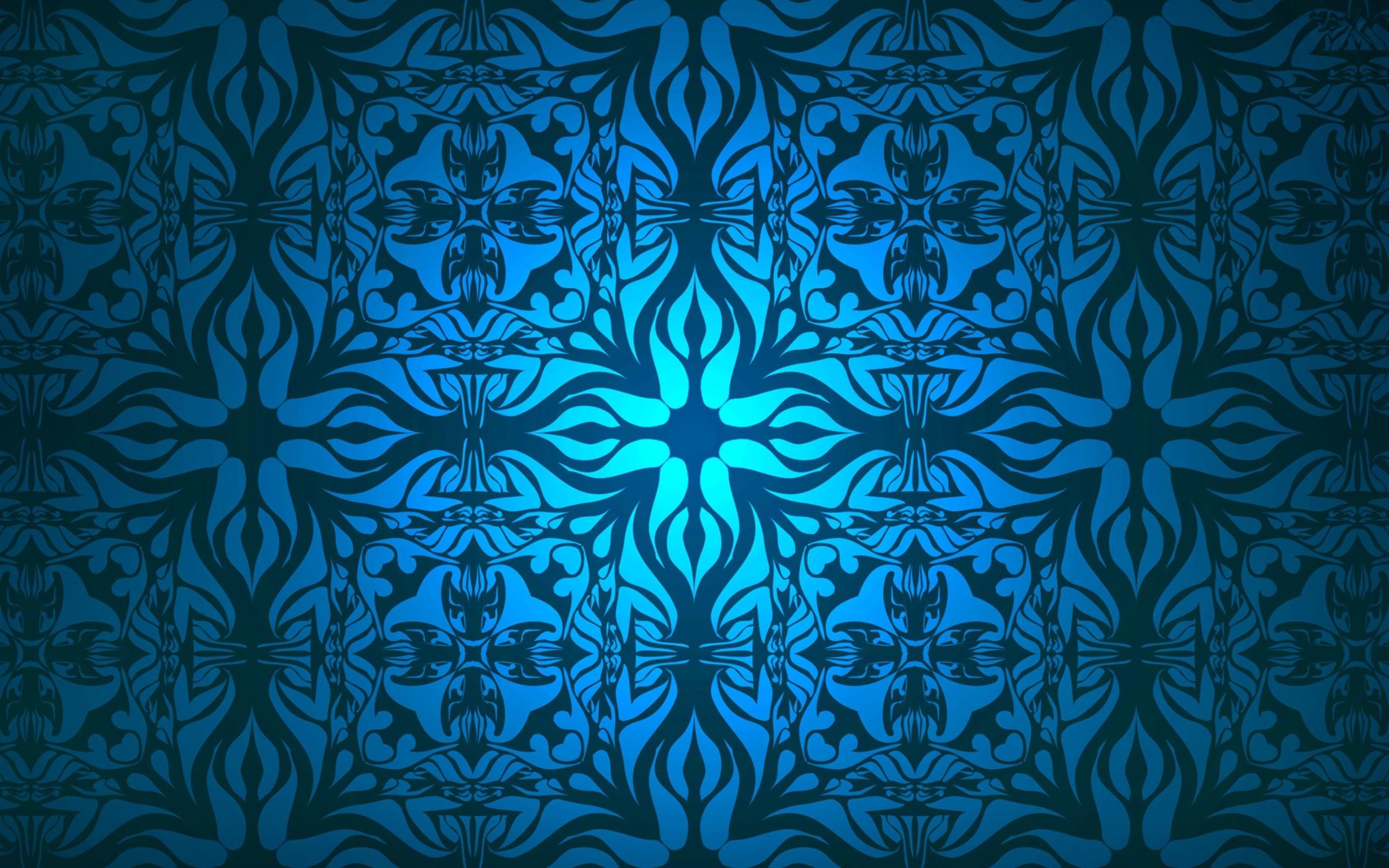 Free Blue Pattern Desktop Background
