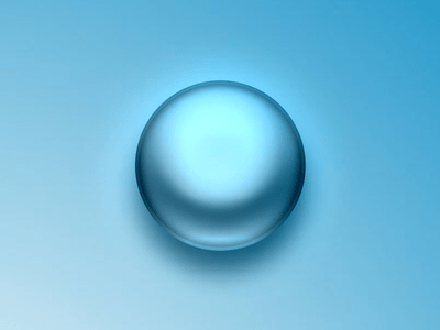 Free Blue Liquid Sphere PSD
