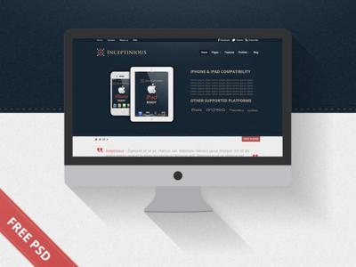 Free Business Website Web Design PSD