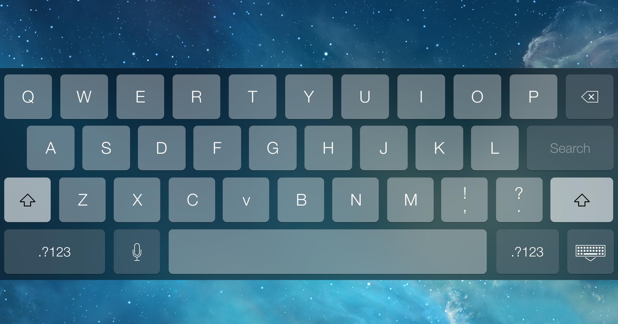 Free-Dark keyboard for iOS 7 mockups psd