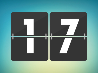 Free Flat Countdown Vector