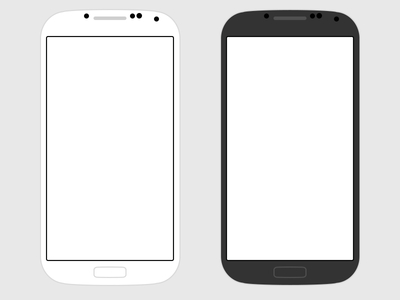 Free Flat Samsung Galaxy S4 PSD