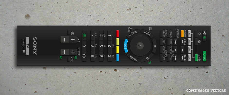 Free Illustrator file of SONY TV remote