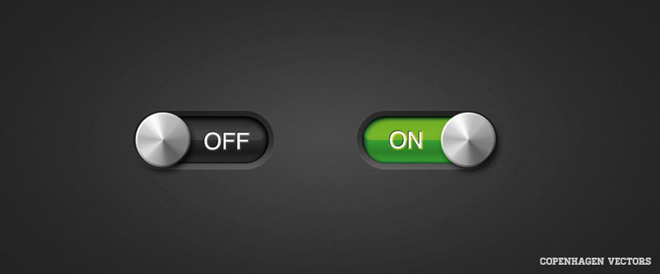 Free On Off slider for UI Design