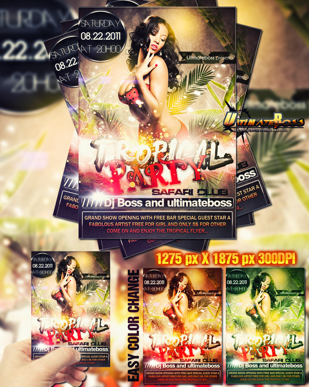 Free Party Flyer PSD Template