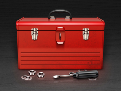 Free red toolkit and toolbox psd
