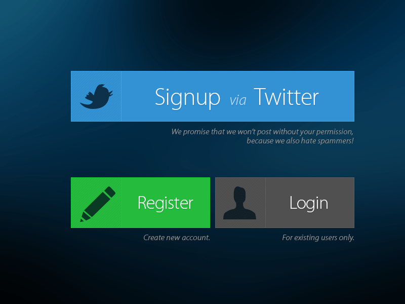 Free Sign In Form Button PSD