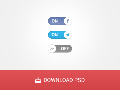 Free Social Switches PSD
