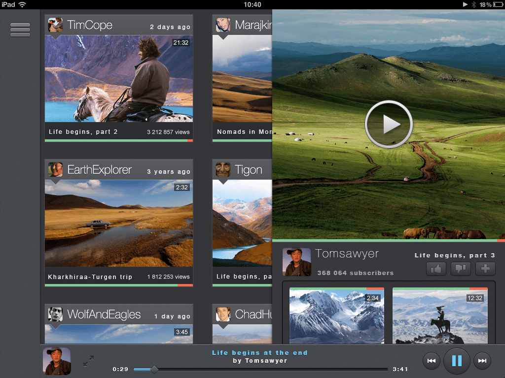 Free Video player user in terface -mockup PSD