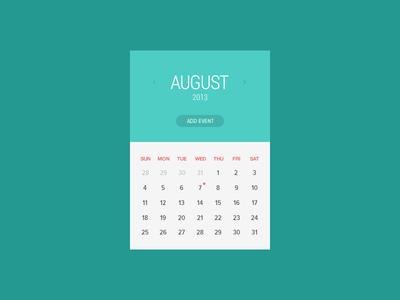 Freebie-Clean Calendar Window PSD