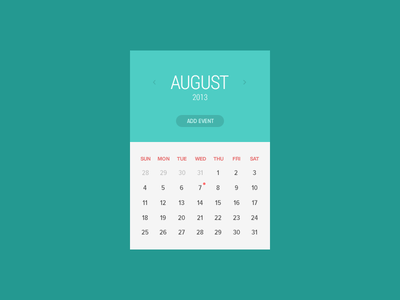 Freebie-Clean Calendar Window PSD
