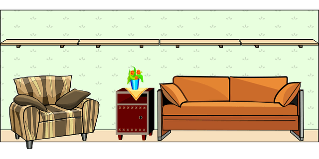 Furniture sofa vector