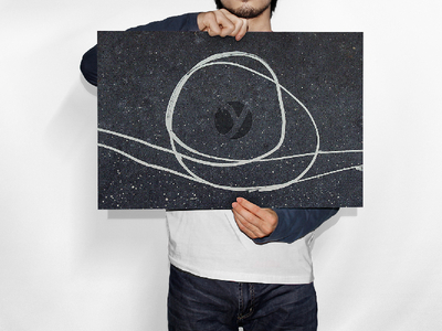 Man Holding Horizontal Paper PSD Mockup
