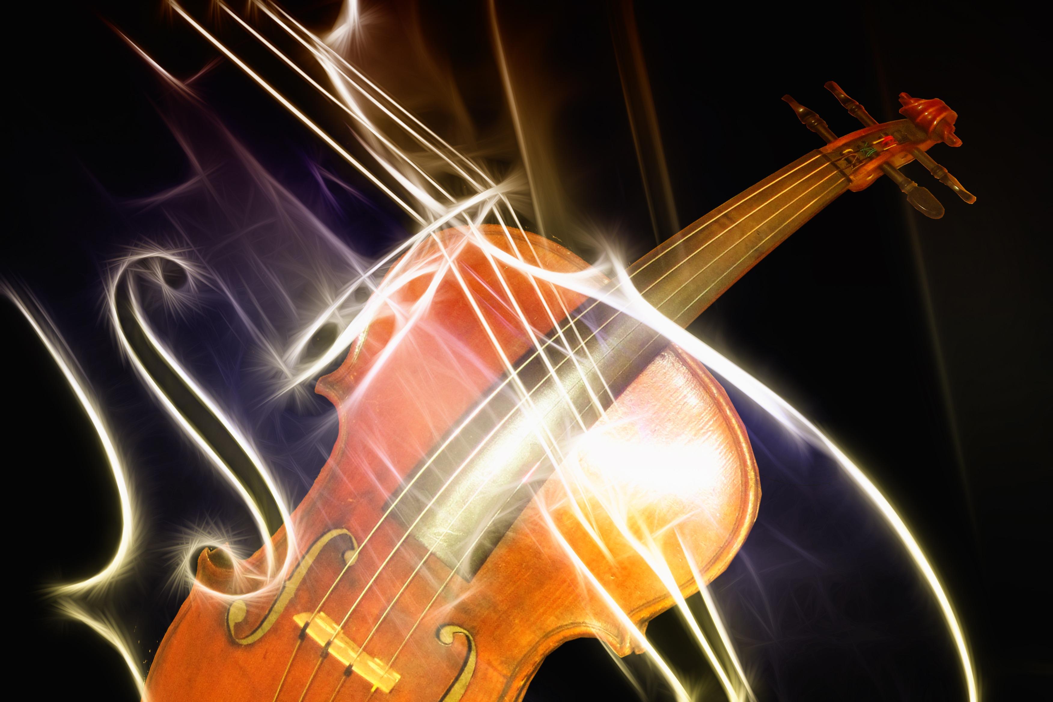 Music instruments-violin-clef