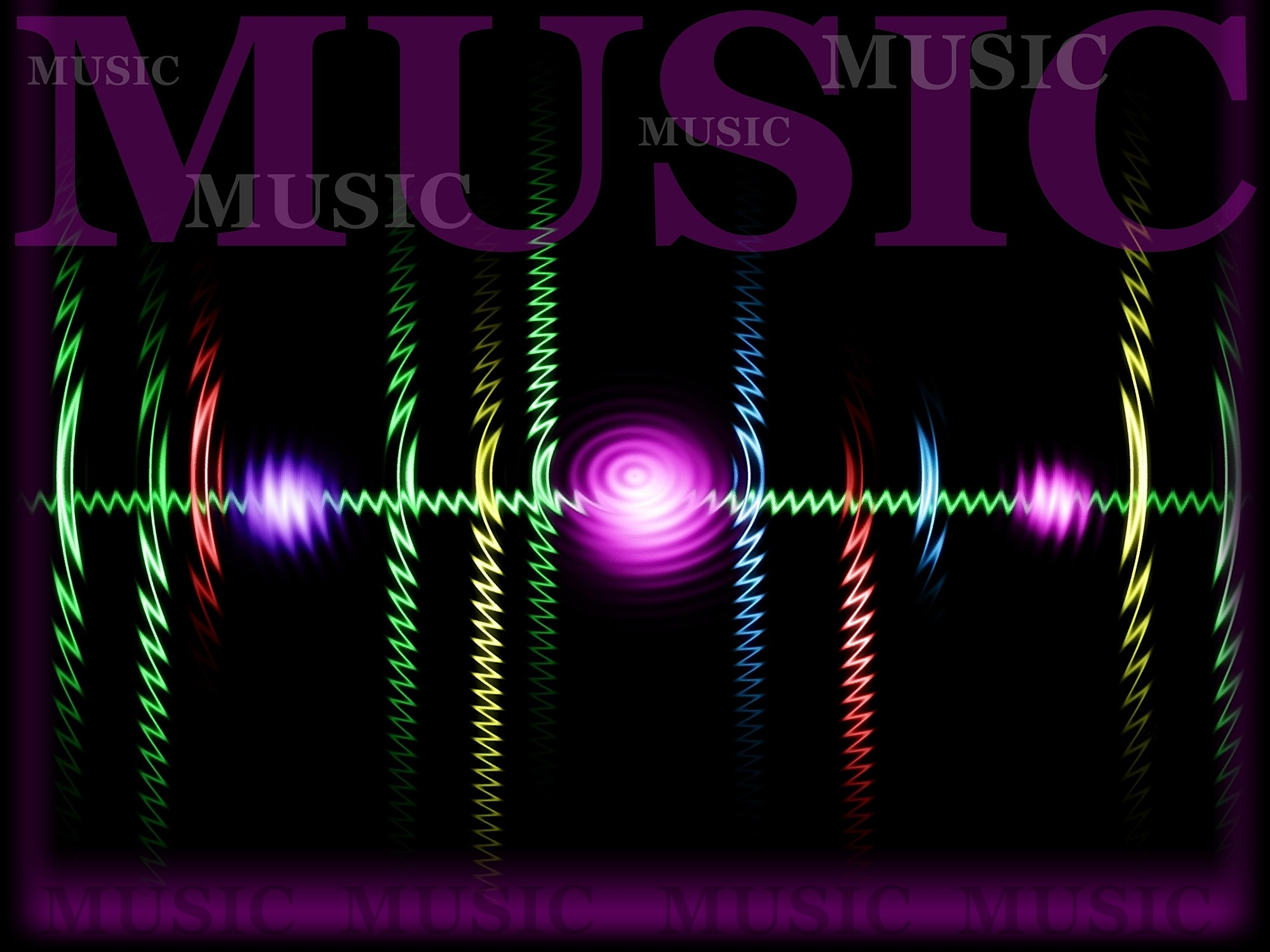 Music wave and frequency