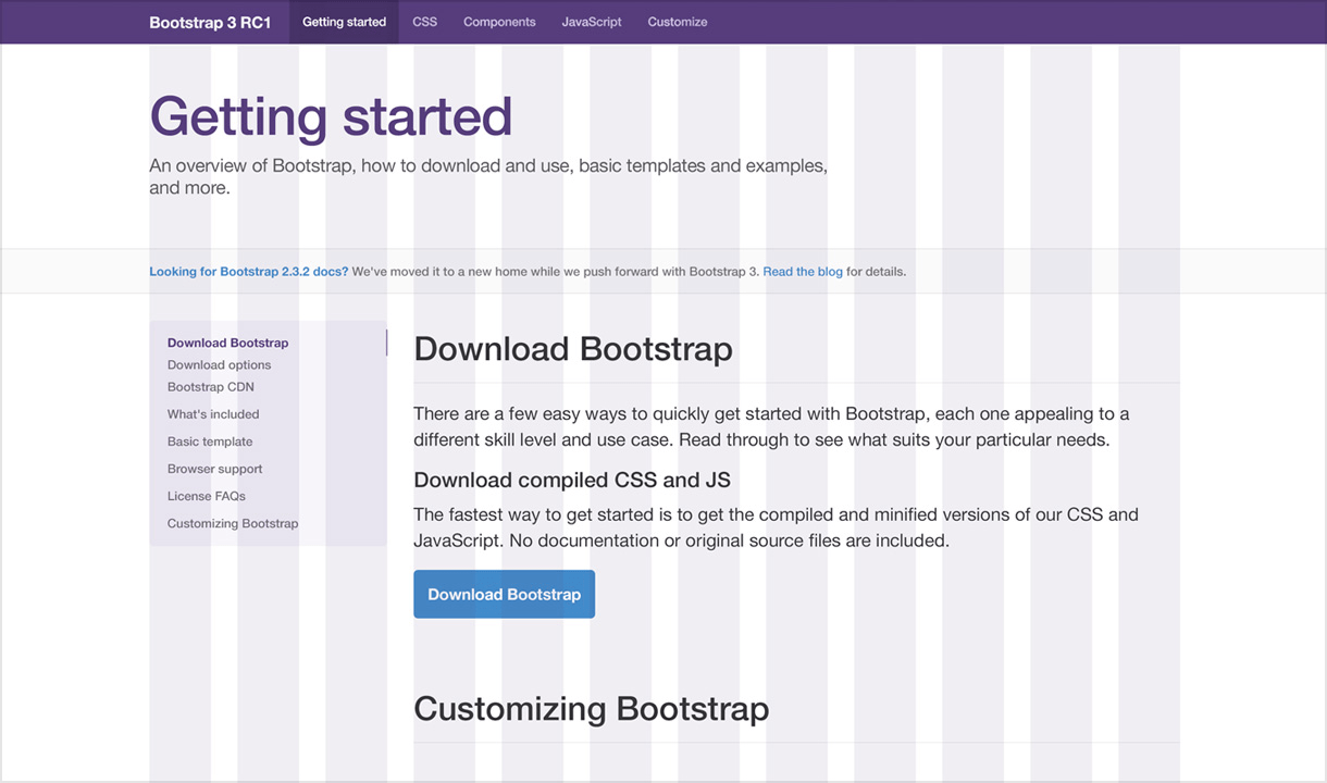 Twitter Bootstrap 3 Free PSD