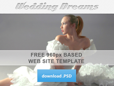 Wedding Dreams Theme-Free Website PSD Template