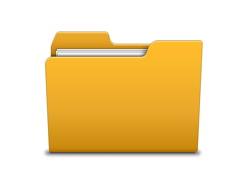 Yellow Illustration Folder Icon PSD