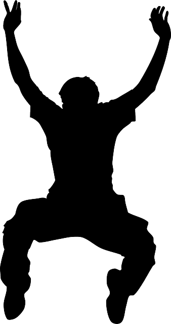 Dance silhouette- boy outline vector