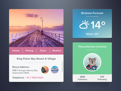 Flat UI -Widget Set PSD