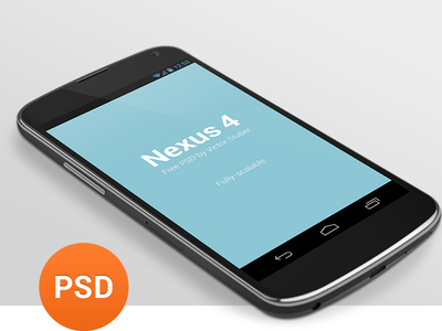 Free Android Mockup Nexus 4 Template PSD