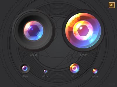 Free Camera Lenses vector