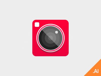 Free Camera icon Vector (ai)