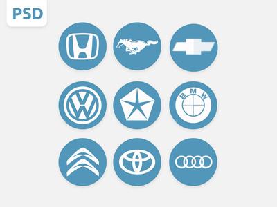 Free Car Logos PSD Download