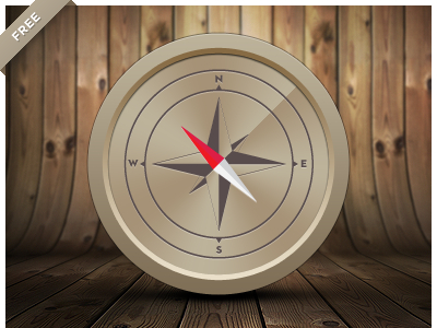 Free Compass Vector Icon Art (illustrator AI File)