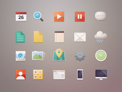 Free PSD Flat Icons Pack