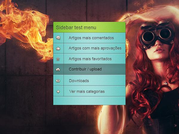 Free Sidebar Menu Web design PSD