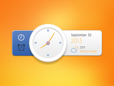 Free Time Widget UI PSD