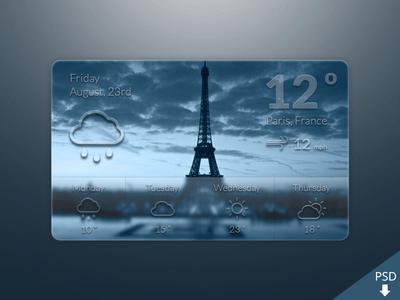 Free Weather Widget PSD