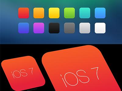 Free iOS 7 App icon PSD Template