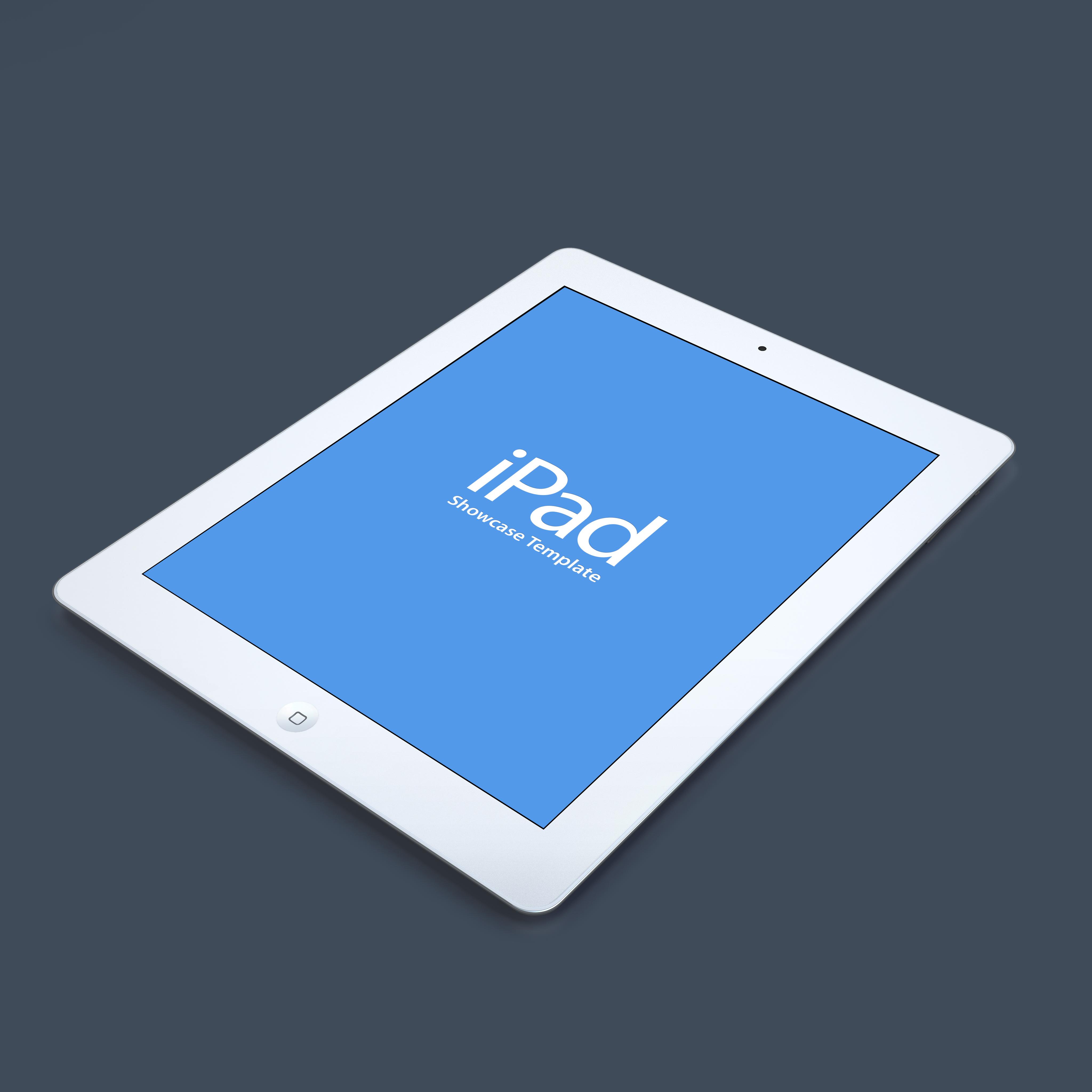 Free iPad Showcase Template PSD