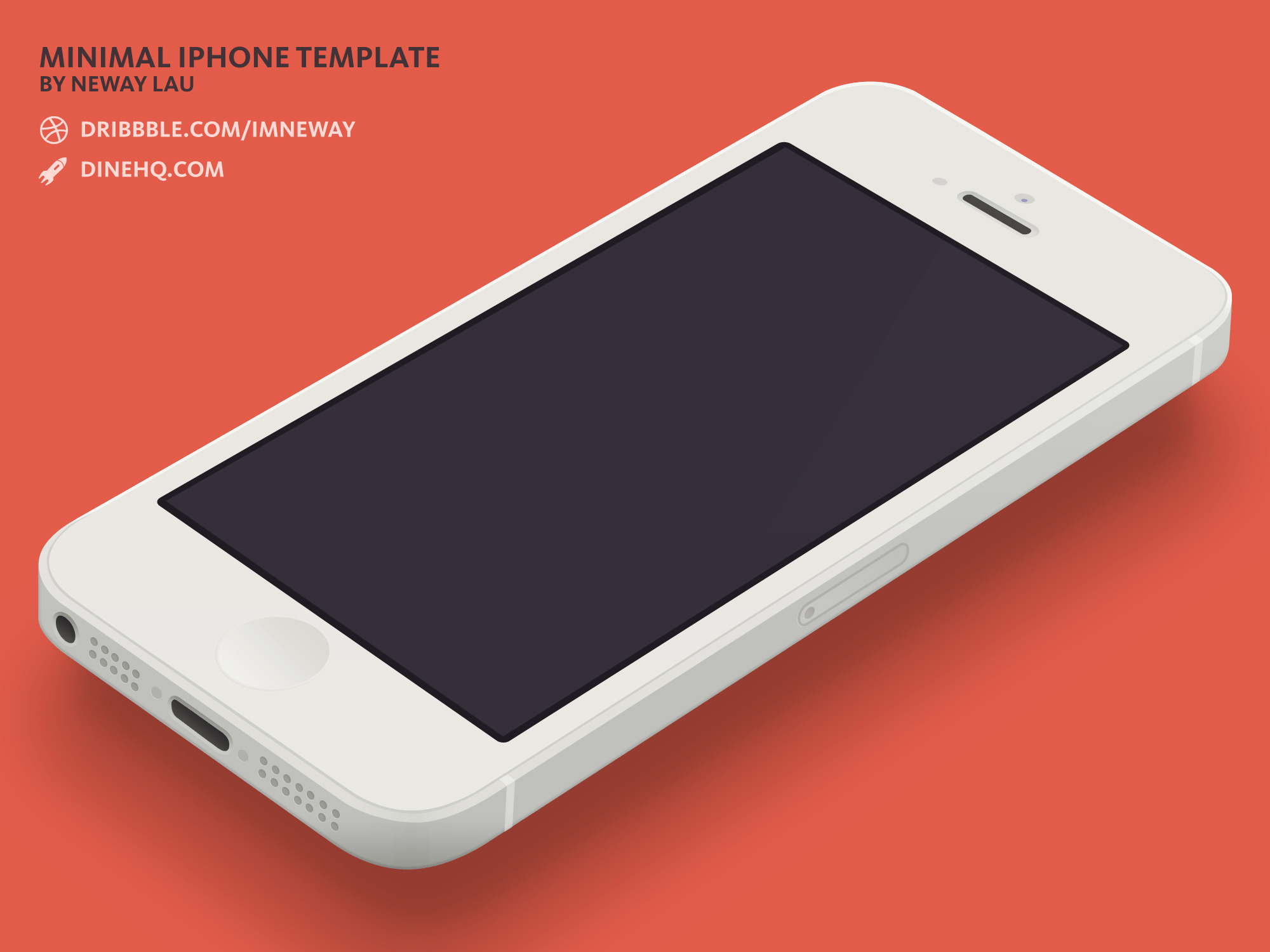 Free iPhone 5 Template PSD